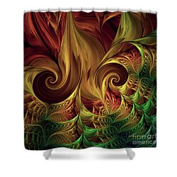 Gold Curl Shower Curtain