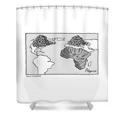 Gold Diggers Shower Curtain