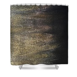 Gold Dusty Night Shower Curtain