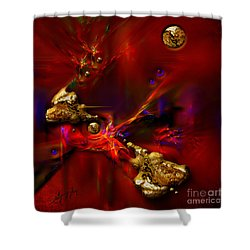 Shower Curtain featuring the painting Gold Foundry by Alexa Szlavics