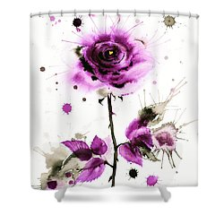 Gold Heart Of The Rose Shower Curtain