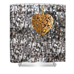 Shower Curtain featuring the photograph Gold Heart  by Ulrich Schade