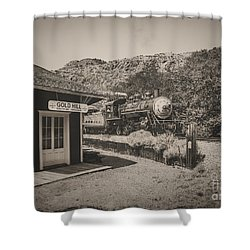 Shower Curtain featuring the photograph Gold Hill Station by Mitch Shindelbower