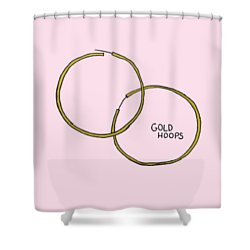 Gold Hoops Shower Curtain