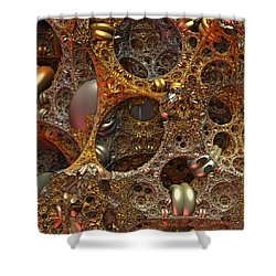 Shower Curtain featuring the digital art Gold Mine by Lyle Hatch