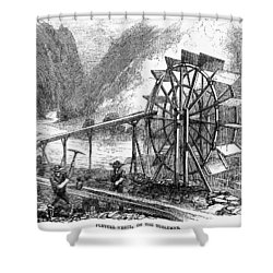 Gold Mining, 1860 Shower Curtain by Granger