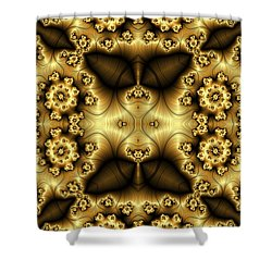 Gold N Brown Phone Case Shower Curtain by Lea Wiggins