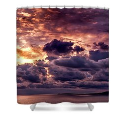 Gold, Orange And Lavender  Shower Curtain