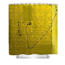 Gold Parchment Shower Curtain
