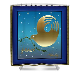 Gold Peace Dove Shower Curtain