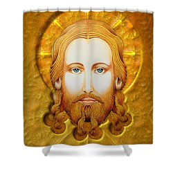 Gold Plate Icon Shower Curtain