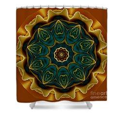 Gold Rose Mandala Shower Curtain