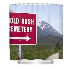 Gold Rush Cemetery Shower Curtain