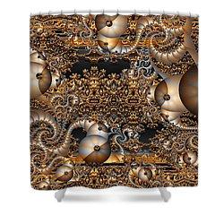 Shower Curtain featuring the digital art Gold Rush by Robert Orinski