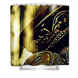 Gold Shower Curtain by Sarah Loft