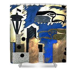 Gold Seatown Shower Curtain