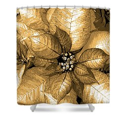 Gold Shimmer Shower Curtain