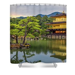 Shower Curtain featuring the photograph Gold Temple,  by Rikk Flohr