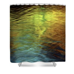 Shower Curtain featuring the photograph Gold To Blue by Kenneth Campbell
