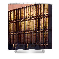Gold Wall Shower Curtain by John Collins