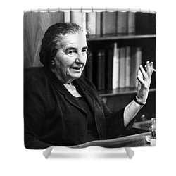 Golda Meir (1898-1978) Shower Curtain by Granger