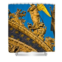 Golden Angel Shower Curtain by Harry Spitz