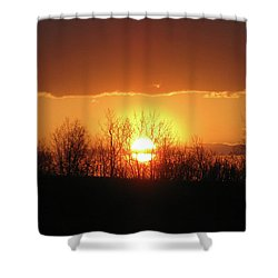 Shower Curtain featuring the photograph Golden Arch Sunset by Debra     Vatalaro