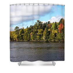 Golden Autum Day Shower Curtain