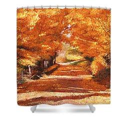 Golden Autumn Shower Curtain