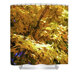 Golden Autumn Scenery Shower Curtain by Lanjee Chee