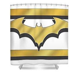 Golden Bat Shower Curtain