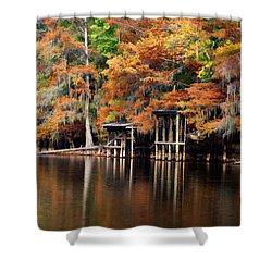Golden Bayou Shower Curtain by Lana Trussell