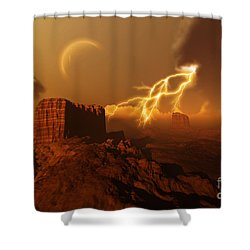 Golden Canyon Shower Curtain by Corey Ford