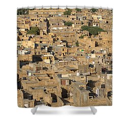 Shower Curtain featuring the photograph Golden City Jaisalmer by Yew Kwang