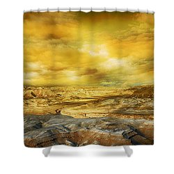 Golden Colors Of Desert Shower Curtain
