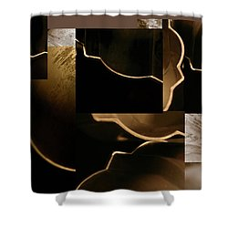 Golden Curves - Shower Curtain