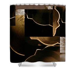 Golden Curves - Shower Curtain
