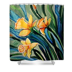 Golden Daffodils Shower Curtain