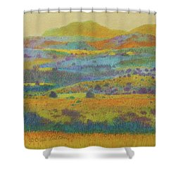 Golden Dakota Day Dream Shower Curtain