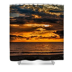 Golden Dawn Shower Curtain