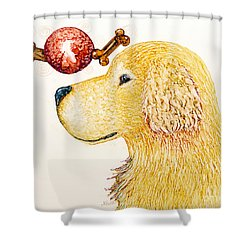 Golden Dreams Shower Curtain