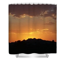 Golden Evening Shower Curtain