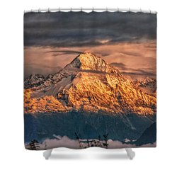 Golden Evening Sun Shower Curtain