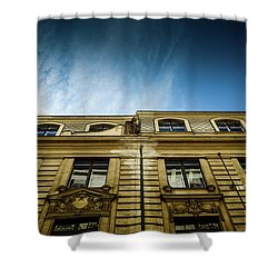 Golden Facade Shower Curtain