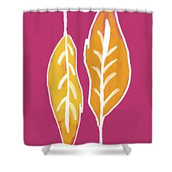 Shower Curtain featuring the painting Golden Feathers by Lisa Weedn