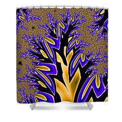 Shower Curtain featuring the photograph Golden Fractal Tree by Ronda Broatch