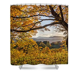 Vermont Framed In Gold Shower Curtain