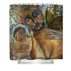 Golden Garden Shower Curtain