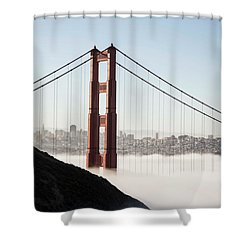 Shower Curtain featuring the photograph Golden Gate And Marin Highlands by David Bearden