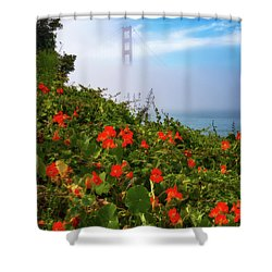 Shower Curtain featuring the photograph Golden Gate Blooms by Darren White